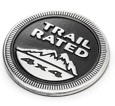 Jeep Wrangler Jeep Trail Rated Metal Emblem Badge