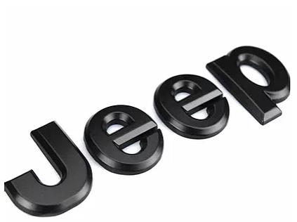 Jeep Wrangler Jeep Metal Logo – Matte Black