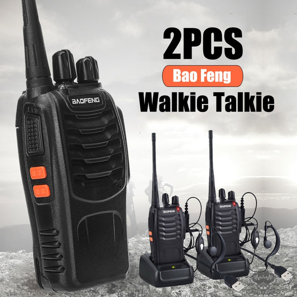 2PCS Baofeng BF-888S Walkie Talkie 2 Way Radio Long Range 16CH UHF 400-470MHZ