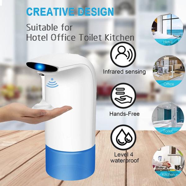 Automatic Foam Soap Dispenser 350ml Smart Sensor Liquid Soap Dispenser For Bathroom Kitchen Hand Free Automatic Soap Dispenser