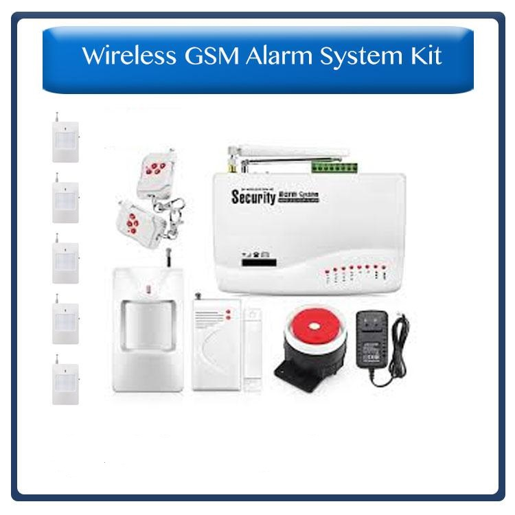Wireless GSM Alarm System – Sends You An SMS When Alarm Goes Off 6 X PIR, 1 X Gap Detector