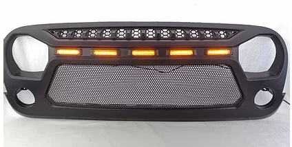 Jeep Wrangler LED Grille With Mesh