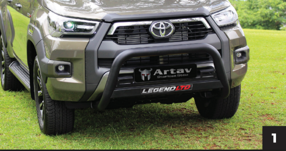 Toyota Hilux LEGEND Oval Nudge Bar Black Stainless Steel
