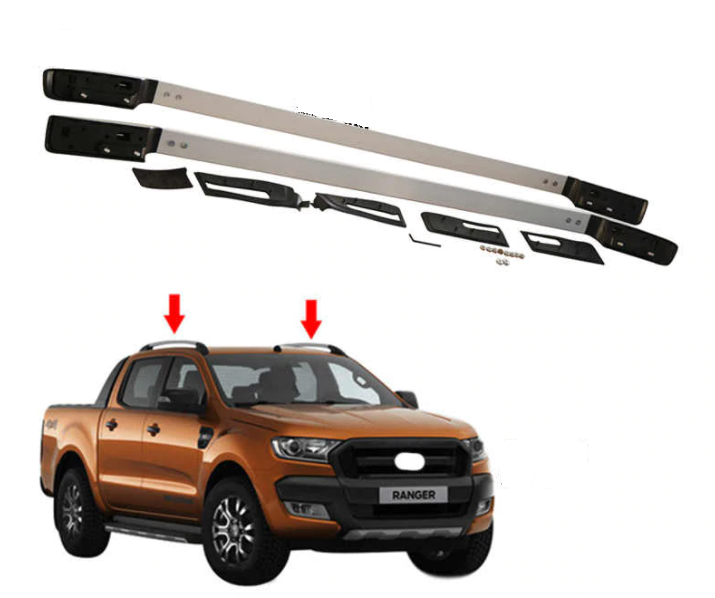 Roof Rails Rack Carrier Bars For Ford Ranger WILDTRACK Bolt On 2012 To Current