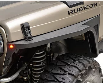 TJ Edge Front Fender With Flair And LED Eagle Lights
