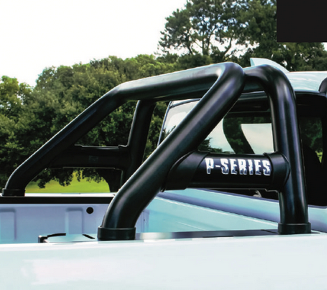 GWM P-Series Sports Bar / Roll Bar Double Cab Black Stainless Steel 2021+