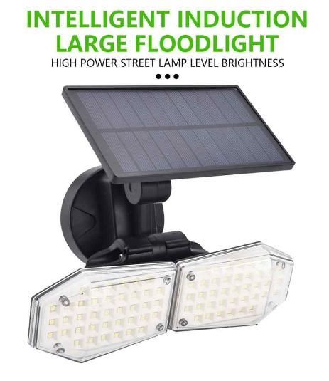 78LED Solar Light With PIR Motion Sensor Adjustable Wall Light Outdoor Waterproof Spotlight Fence Patio Garage Street Lamp