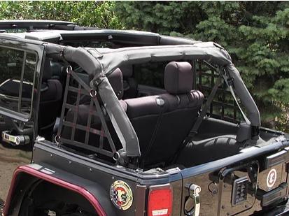 Jeep Wrangler (2Dr) 3-Piece Rear Cargo Netting Kit