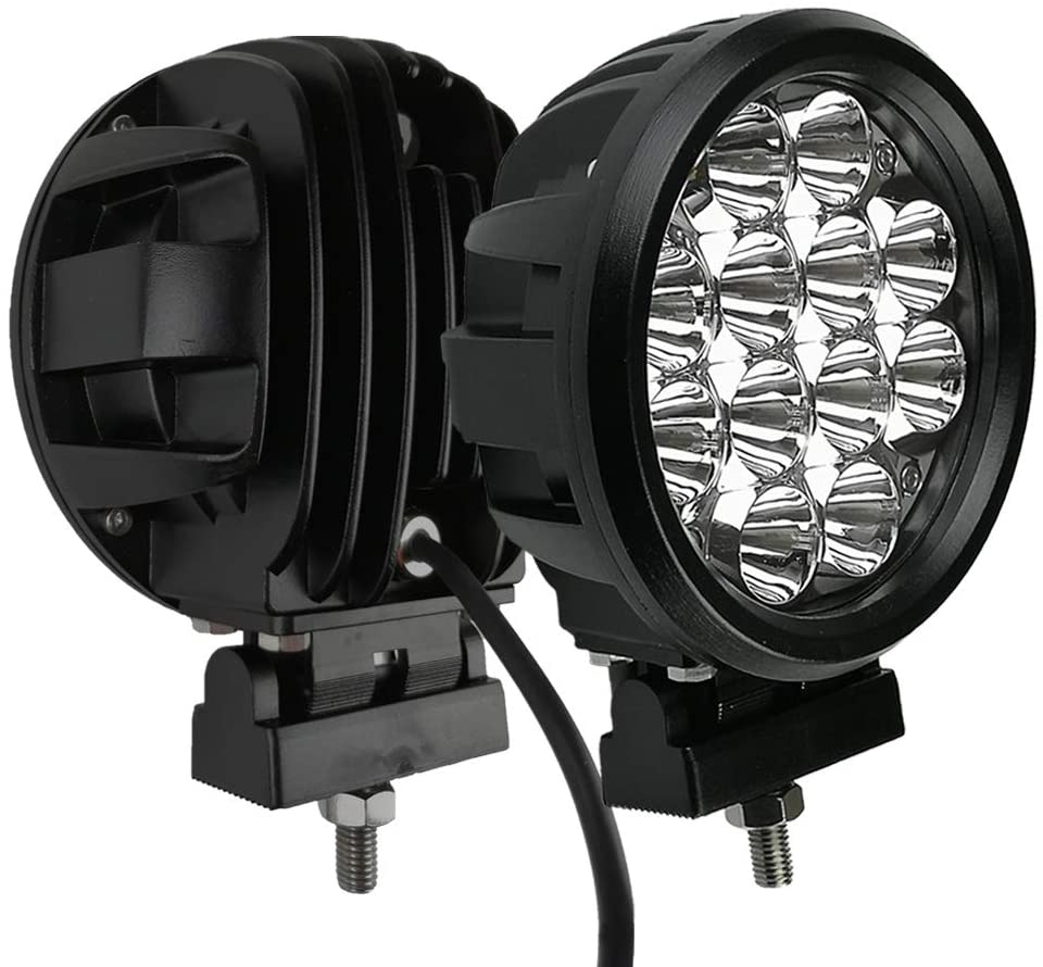 EXTREME 2Pcs 60 Watt Spot Beam 6 Inch Round LED Work Light Driving Lights Spotlights For Off Road 4×4 Pickup Truck