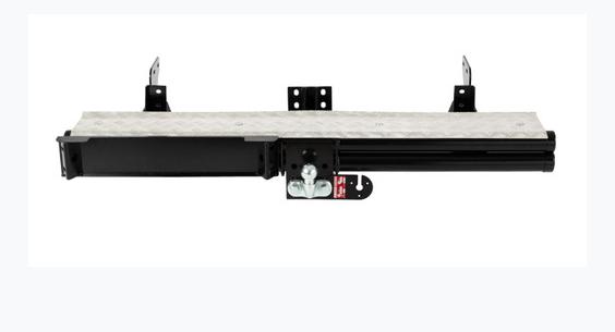 Toyota Landcruiser Black DBL Tube Rear  Step With Tread Plate 2012+ AMLCU4003