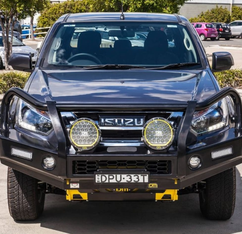 Isuzu Front Replacement Bumper With Wiring Kit (Courier Not Included, Please Request Separate Quote)