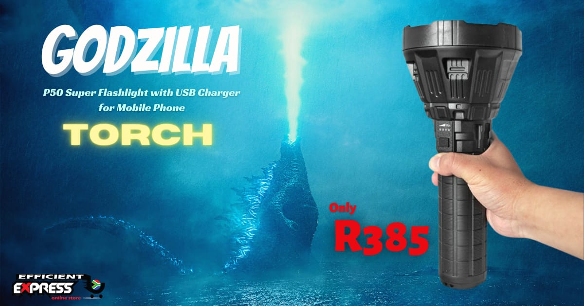 GODZILLA P50 Super Flashlight With USB Charger For Mobile Phone – W5102
