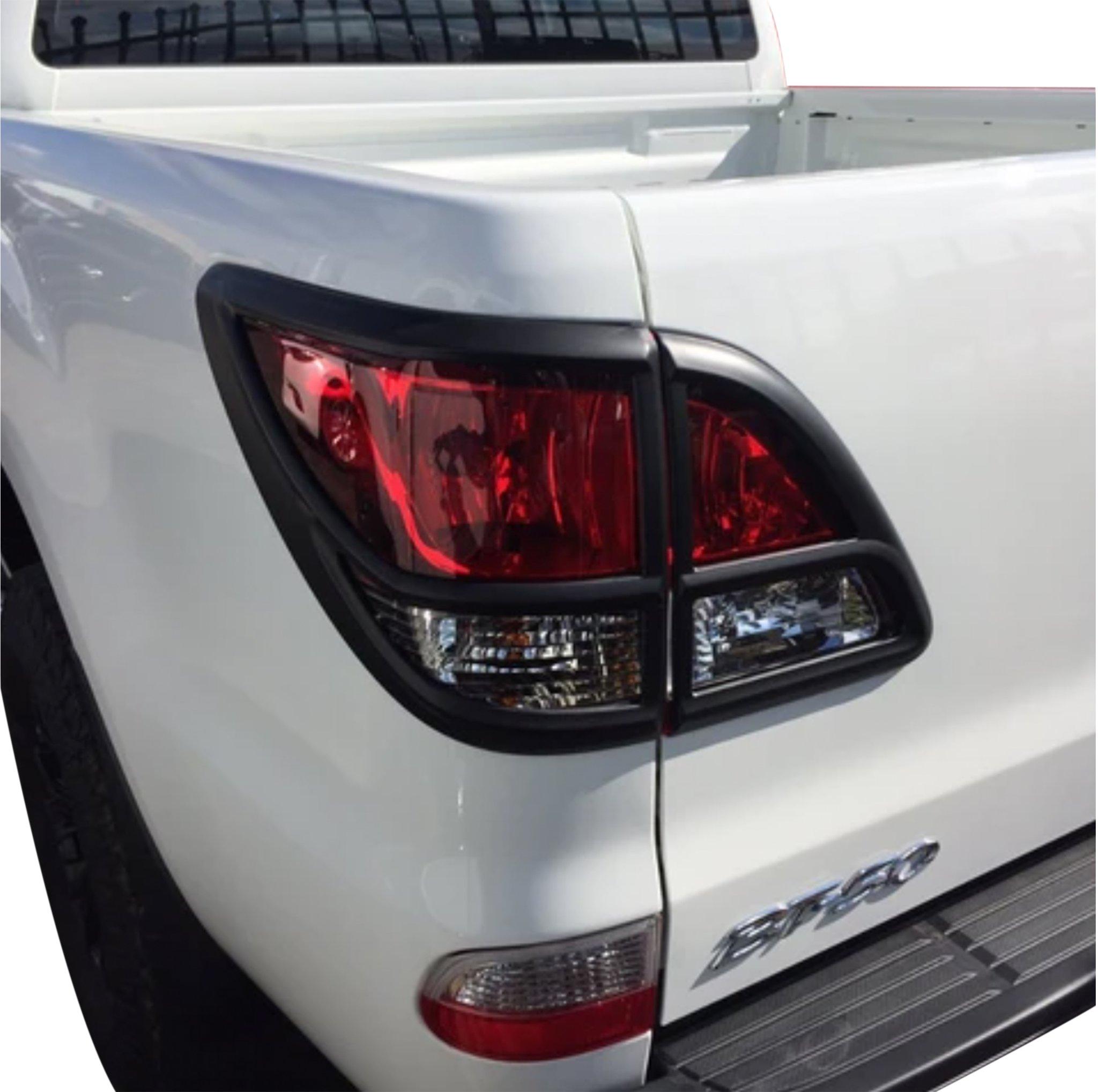 Mazda BT-50 Matte Black Taillight Covers 2012+