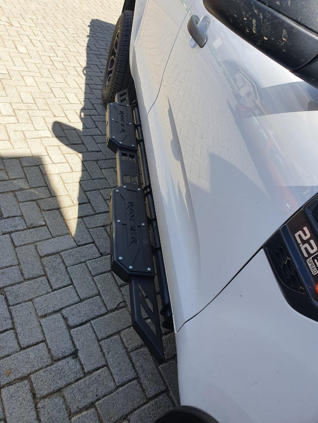 Ford Ranger Side Steps Razors Edge Steel Black 2012+