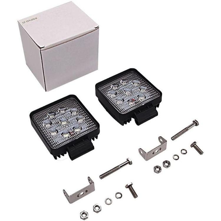2 X 27W – 9LED – 3D Square LED Spotlight Set