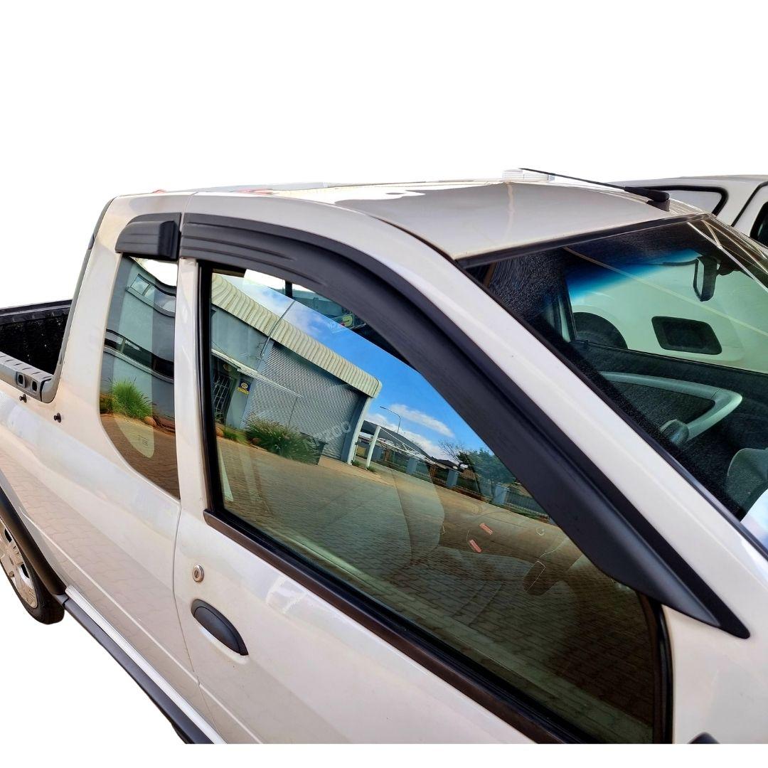 Nissan NP200 Windshields Window Bubbles Matt Black Midnight Range 4 Piece