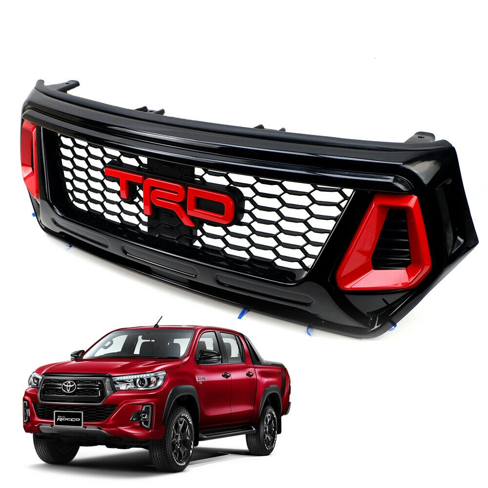 Toyota Hilux Revo Rocco 2018 – 2019 Red Grille TRD Style Black Red