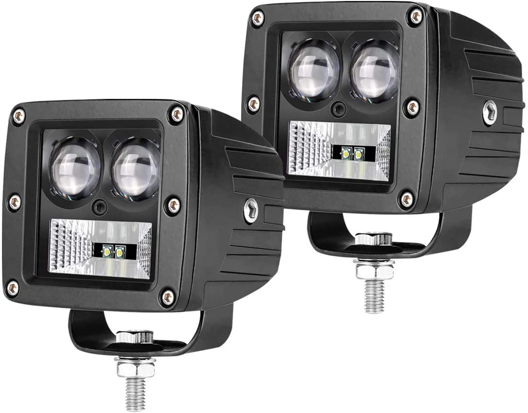 Led Spot Lights / Led Light Bar Led Pod Lights 3 Inch 20W Black Set Of 2