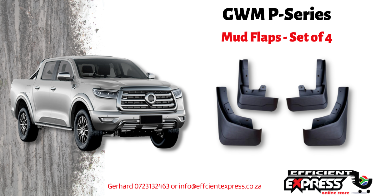 GWM Commercial / Passenger P-Series Mud Flaps / Mud Guards (set Of Four)