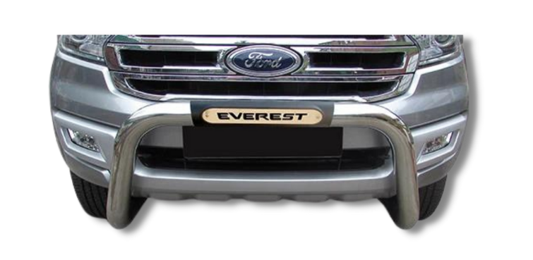 Ford Everest PDC Nudge Bar Stainless 2016> Oval Range 150044T-21EV