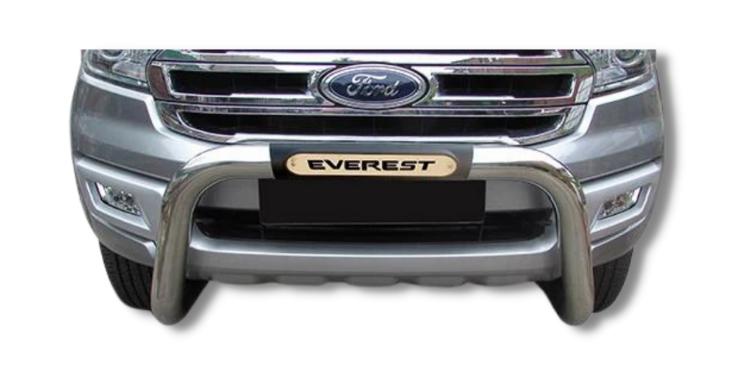 Ford Everest PDC Nudge Bar Stainless 2016> Oval Range 150044T-21EV – Plus FREE LED Spot Lights