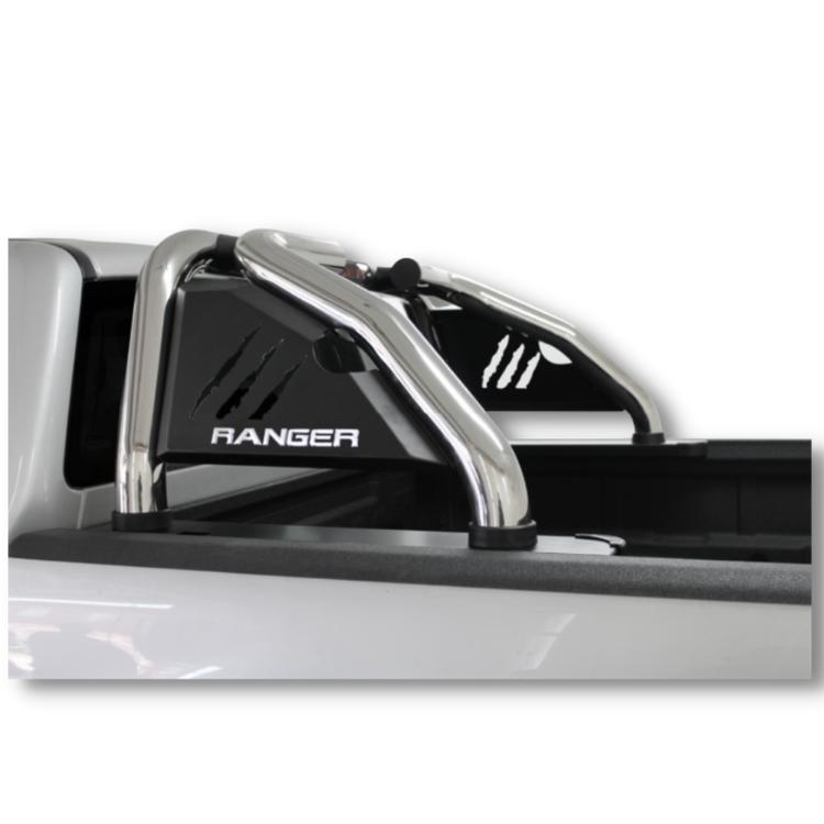 Ford Ranger Sports Bar Roll Bar Stainless – Brake Light Integration – Raptor Name Plate 2012> 150049T (N/S)