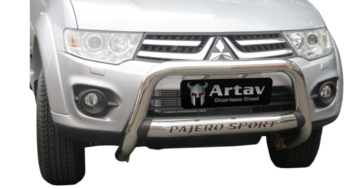 Mitsubishi Pajero Sport Nudge Bar Stainless 2017> 30056T – Plus FREE LED Spot Lights