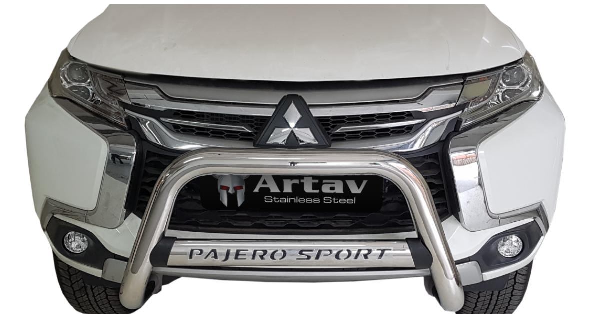 Mitsubishi Pajero Sport Nudge Bar Stainless 2020> 30057T – Plus FREE LED Spot Lights