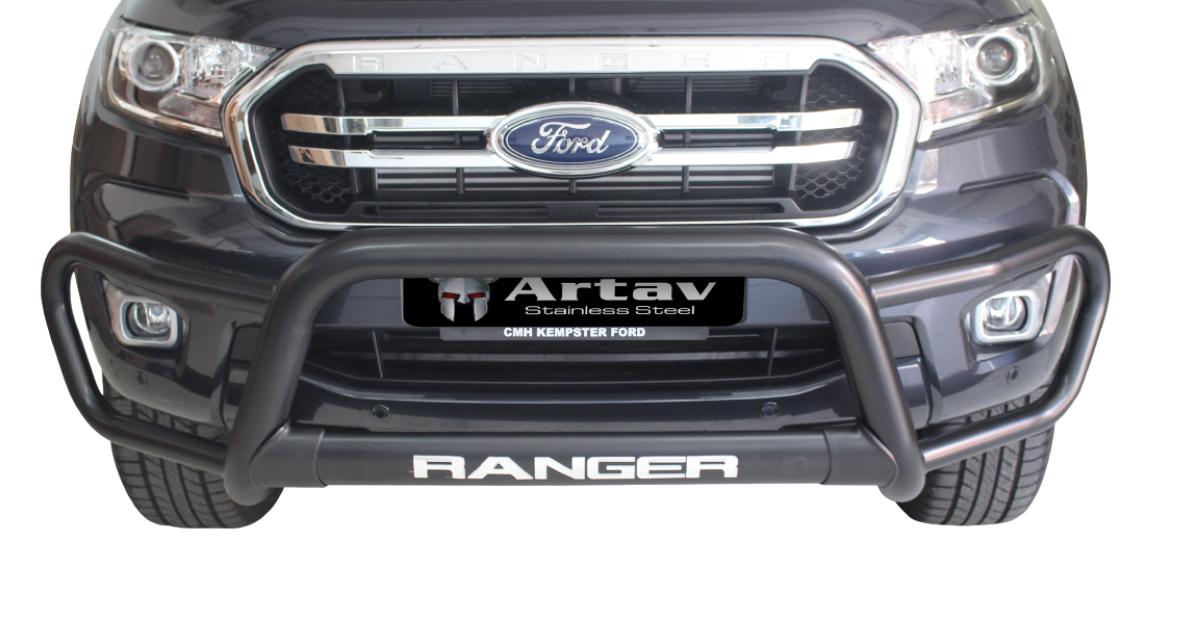 Ford Ranger T6 Tri Bumper Nudge Bar Black (2012-2015) BS-150024 – Plus FREE LED Spot Lights