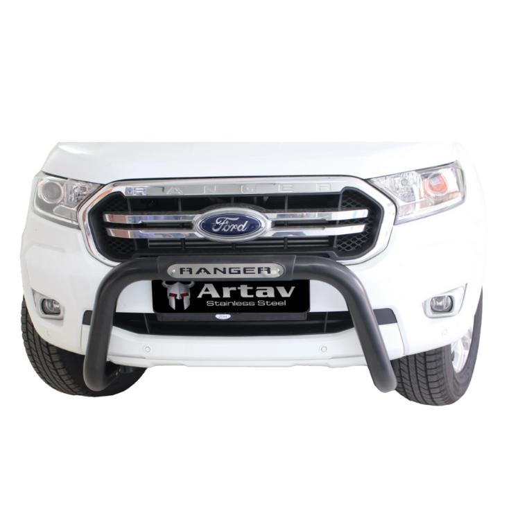 Ford Ranger T6 Facelift PDC Nudge Bar Black 2016> Oval Range BS-150046