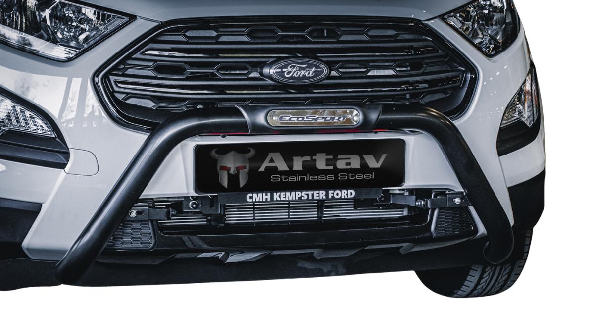 Ford EcoSport Facelift PDC Nudge Bar Black 2018> BS-150064 – Plus FREE LED Spot Lights
