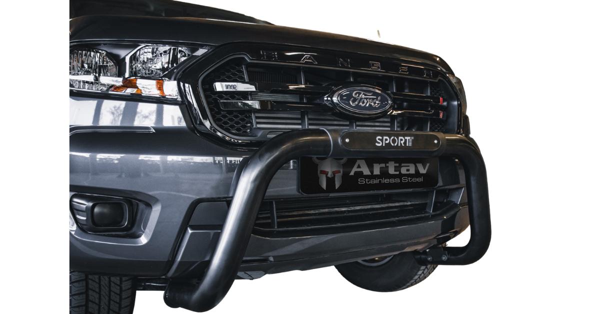 Ford Ranger & Everest SPORT PDC Nudge Bar Black 2016> BS-SPORT – Plus FREE LED Spot Lights