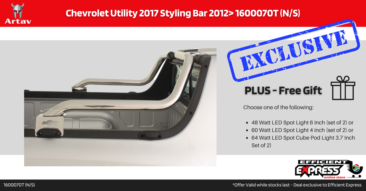 Chevrolet Utility 2017 Styling Bar Roll Bar Stainless 2012> 1600070T (N/S)