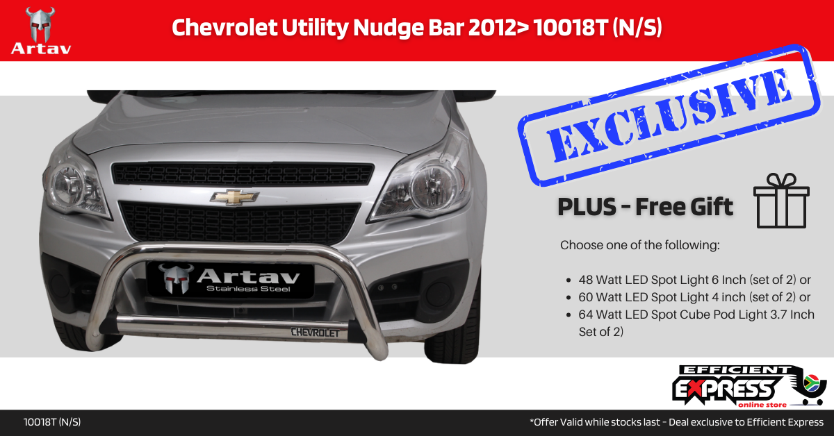 Chevrolet Utility Nudge Bar Stainless 2012> 10018T (N/S)