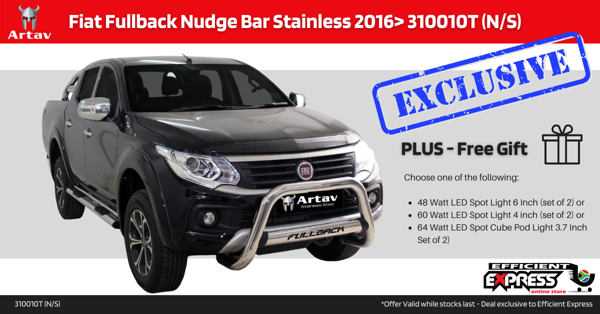 FIAT Fullback Nudge Bar Stainless 2016> (N/S) 310010T