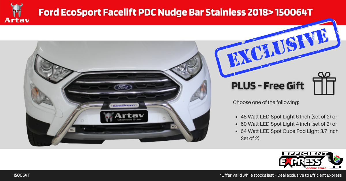 Ford EcoSport Facelift PDC Nudge Bar Stainless 2018> 150064T