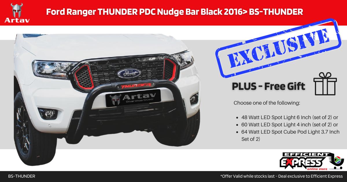 Ford Ranger THUNDER PDC Nudge Bar Black 2016> BS-THUNDER
