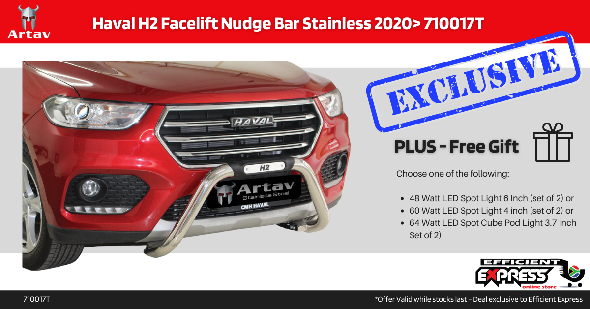 Haval H2 Facelift Nudge Bar Stainless 2020> 710017T