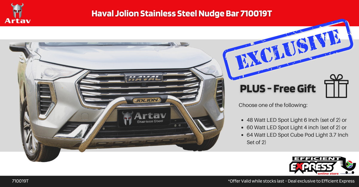 Haval Jolion Stainless Steel Nudge Bar 710019T