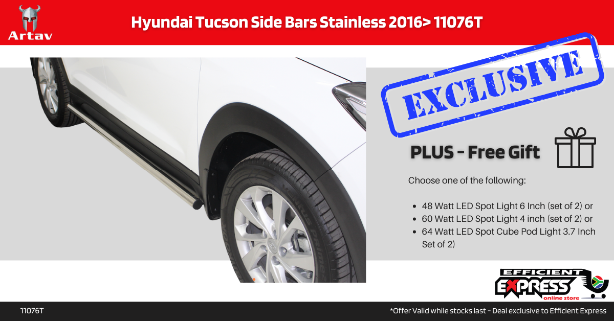 Hyundai Tucson Side Bars Side Step Stainless 2016> 11076T