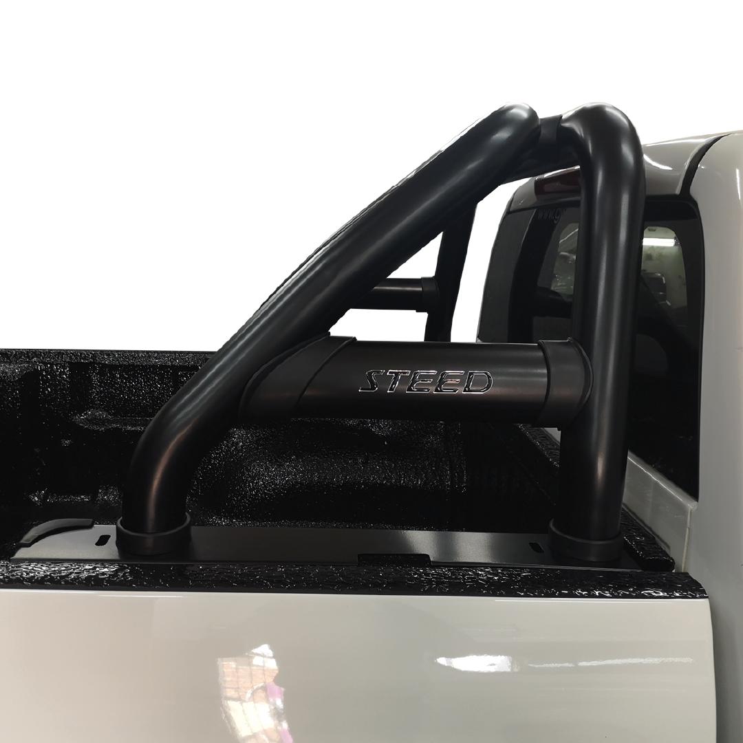 GWM Steed 5 & 5E Sports Bar Roll Bar W Oval Side Plates Black (Fits All DC Models – DC & SC)  2019> BS-72052 – Plus FREE LED Spot Lights