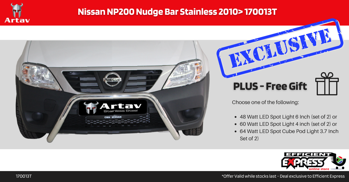 Nissan NP200 Nudge Bar Stainless 2010+ 170013T