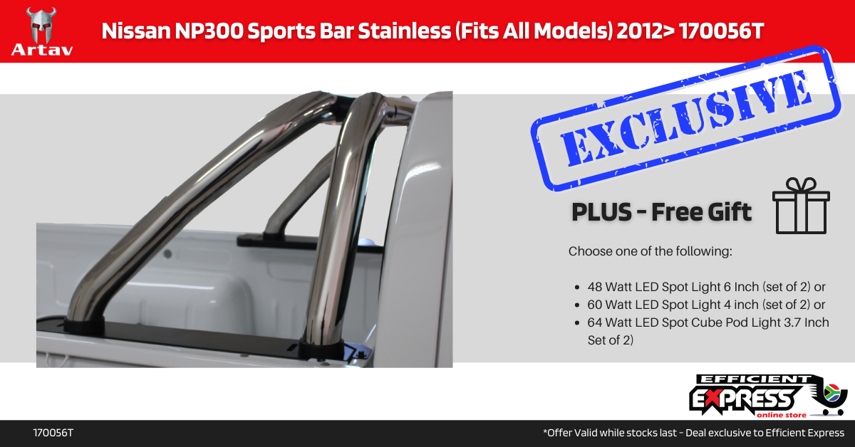 Nissan NP300 Roll Bar Stainless (Fits All Models) 2012+ 170056T