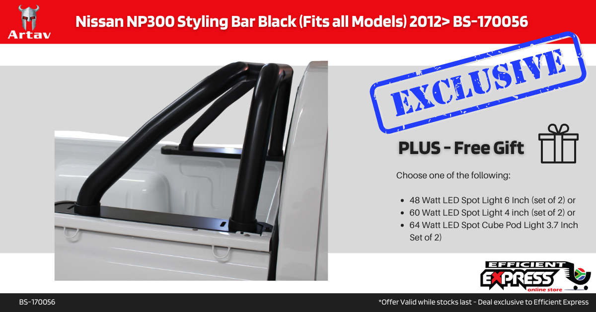 Nissan NP300 Roll Bar Black (Fits All Models) 2012+ BS-170056