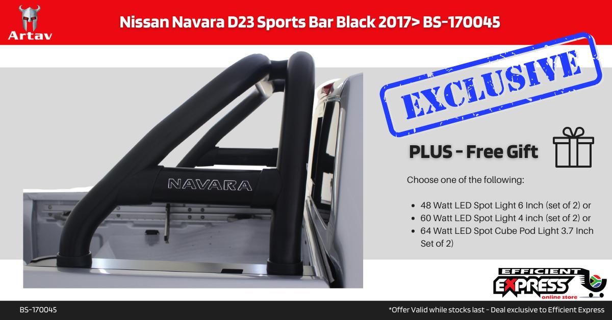 Nissan Navara D23 Roll Bar Black 2017+ BS-170045