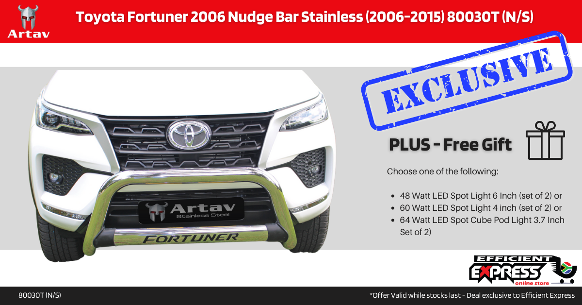 Toyota Fortuner 2016+ Nudge Bar Stainless 80030T (N/S)