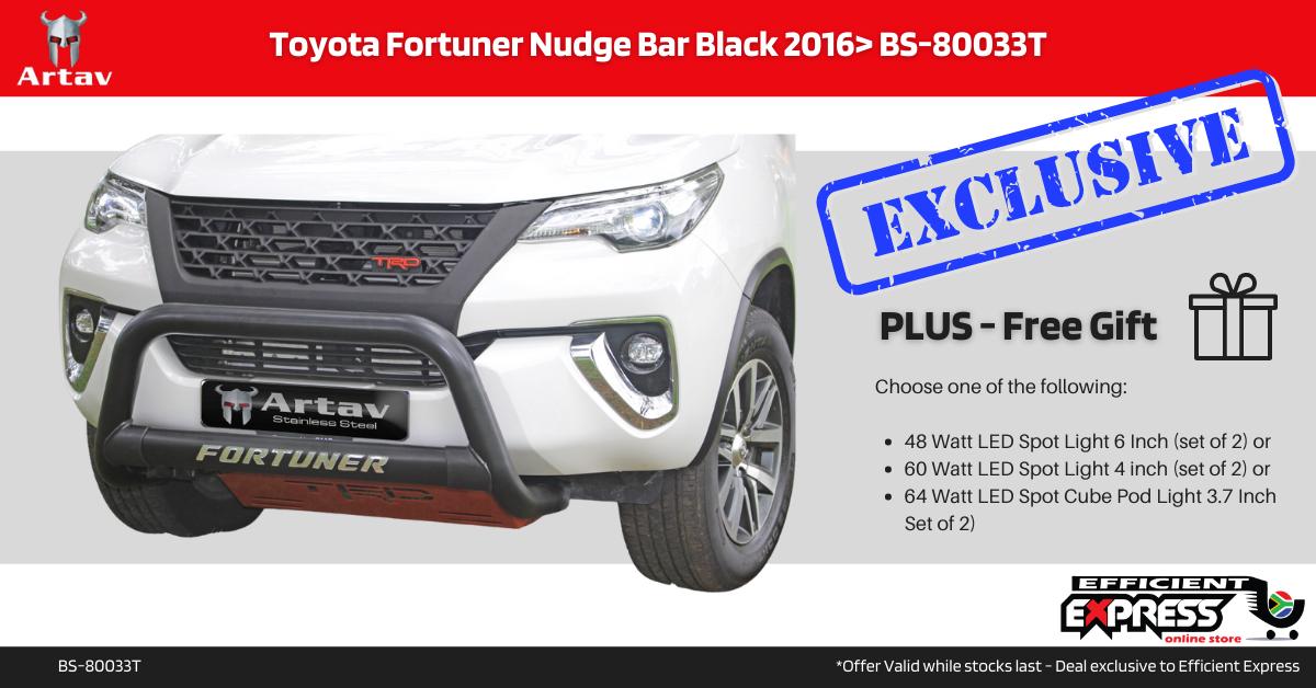 Toyota Fortuner Nudge Bar Black 2016> BS-80033