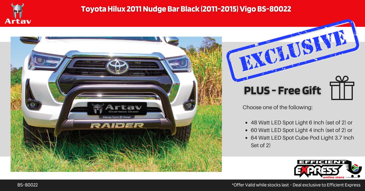 Toyota Hilux 2011 Nudge Bar Black (2011-2015) Vigo BS-80022