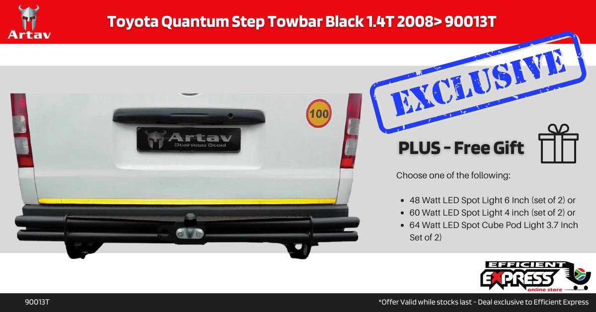 Toyota Quantum Step Towbar Black 1.4T 2008> 90013T