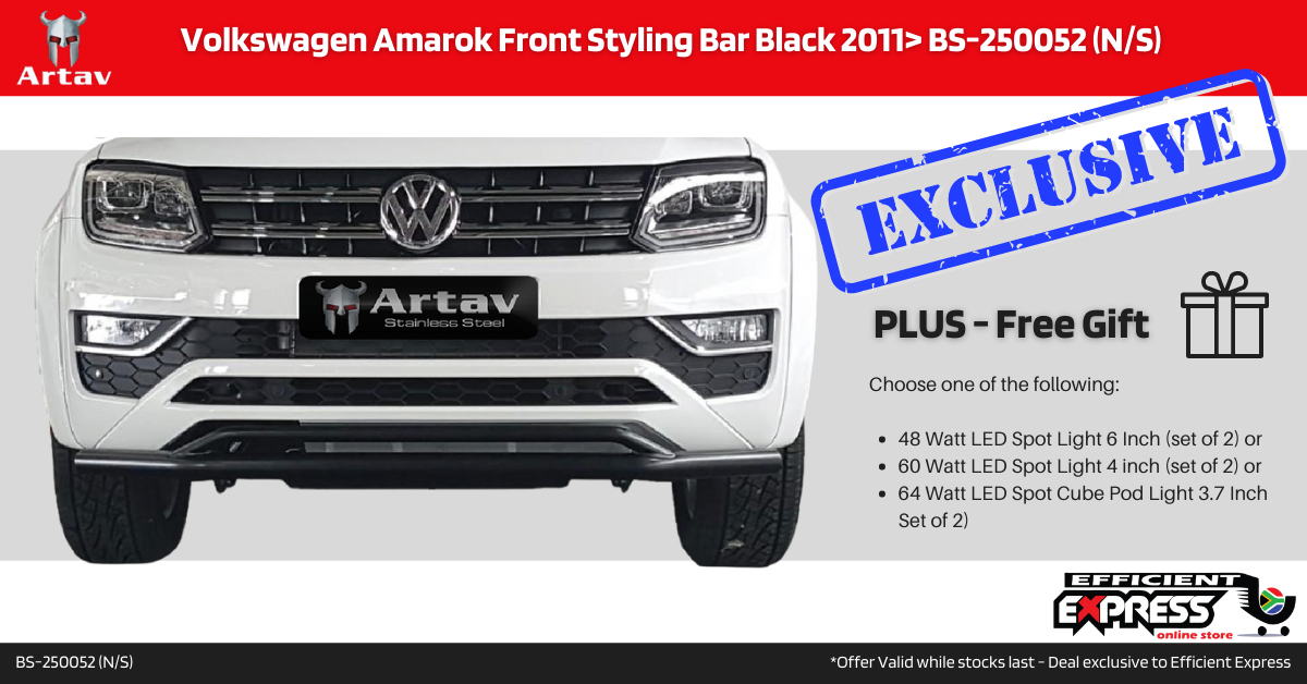 Volkswagen Amarok Nudge Bar Front Styling Bar Black 2011+ BS-250052 (N/S)